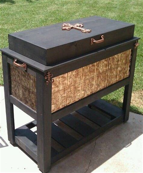 backyard ice chest custom cedar ice chests create a one of a kind design and