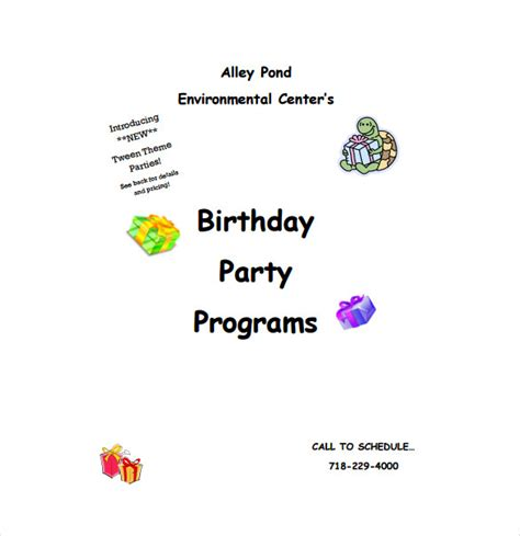 Birthday Program Outline by Birthday Program Template 11 Free Word Pdf Psd Eps Ai Vector Format Free