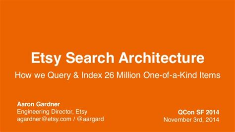 Search Etsy Etsy Search How We Index And Query 26 Million One Of A Items
