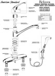 american standard kitchen faucet repair parts american standard faucet parts diagram