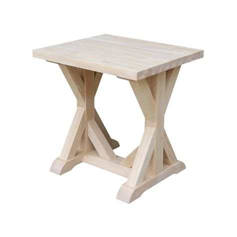 unfinished wood end tables international concepts unfinished end table ot 10 the