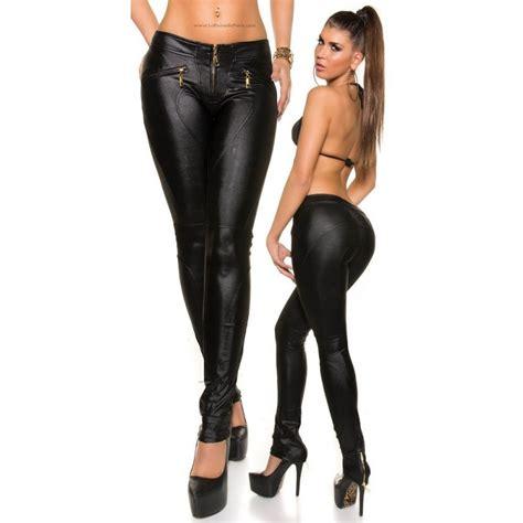 pantalones cuero pantalones de piel para gorditas