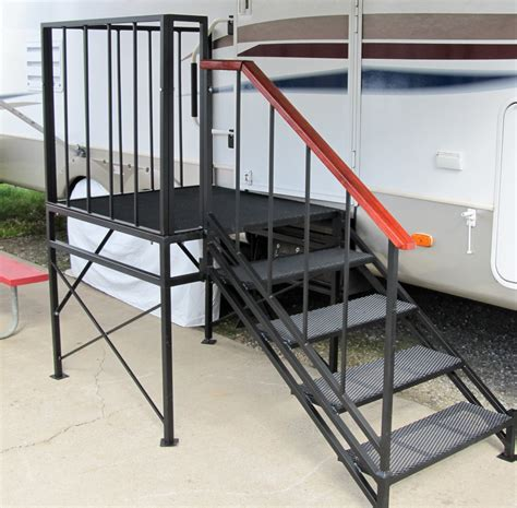 temporary deck portable rv steps and decks
