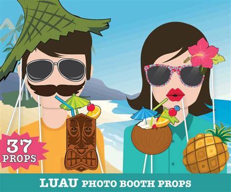 summer beach party 16 piece photo booth props printable mejores 16 im 225 genes de fiesta hawaiana en pinterest
