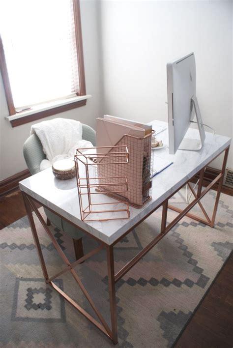 office space gold marble desk diy wayfair