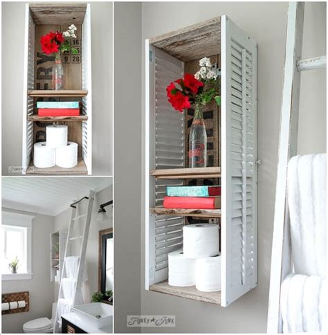 upcycled bathroom storage 15 clever upcycled bathroom storage projects