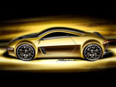 golden cars wallpaper golden car sketch cars hd wallpapers