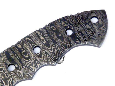 custom knife blanks blank blade damascus tracker knife custom handmade