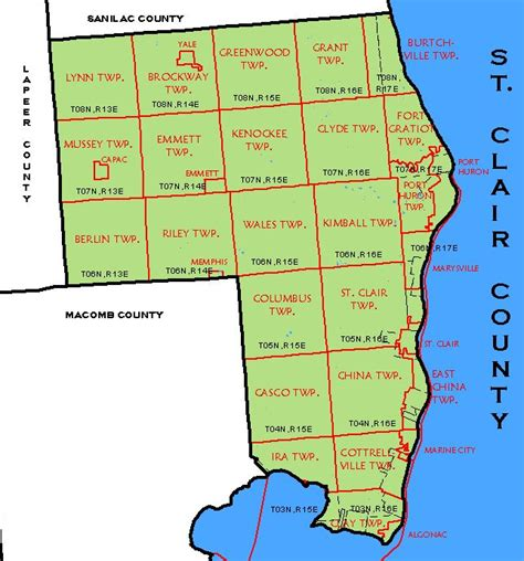 st clair county michigan its history and its st clair county michigan map michigan map