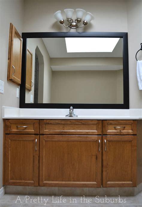 pretty bathroom mirrors frame your mirror a pretty life in the suburbs