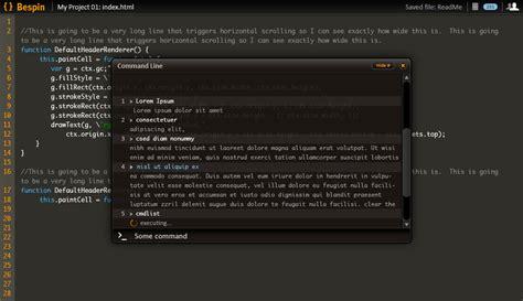 layout editor command line labs bespin designdocs editor piemenuandnot mozillawiki