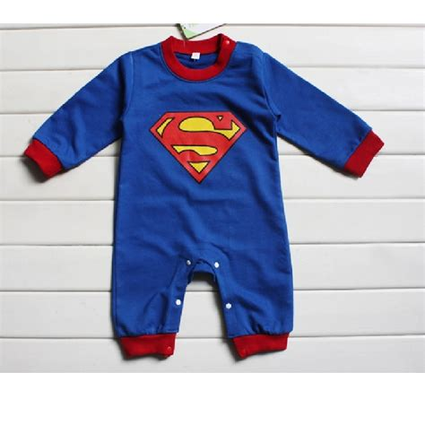 superman baby rompers sleeve baby clothes