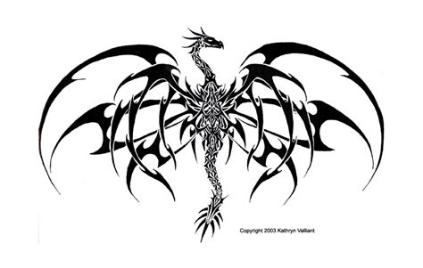 tribal dragon tattoo by valliantcreations on deviantart