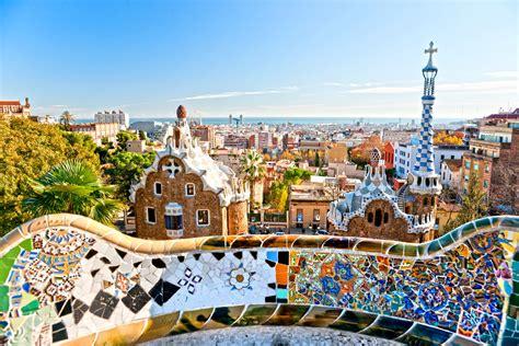 barcelona gaudi park guell works of antoni gaud 237 barcelona spain