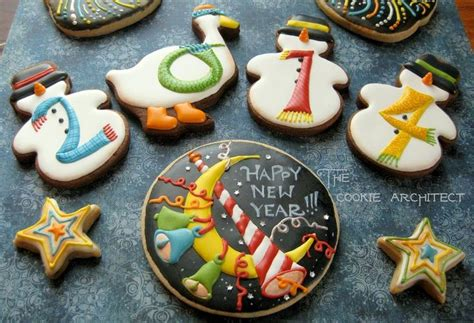new year cookies decoration happy new year the cookie architect www