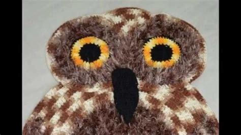 crochet owl rug pattern free how to crochet owl rug free pattern