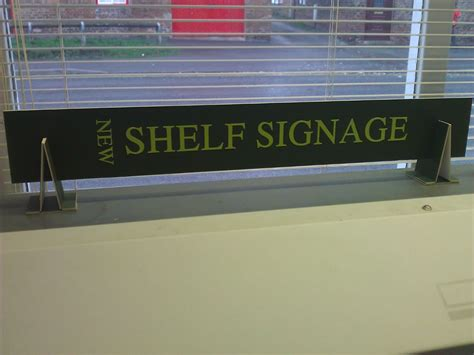 Shelf Signage by Value Library Signage From Thirsk
