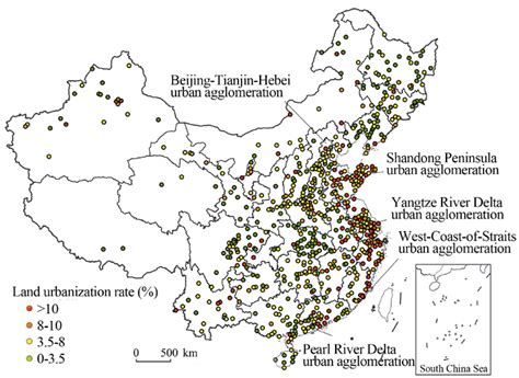 spatial pattern types spatial differences and driving forces of land