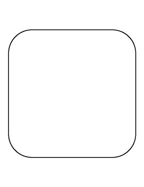 Rounded Corners Outline Css by Rounded Square Pattern Use The Printable Outline For Crafts Creating Stencils Scrapbooking