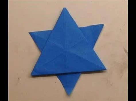 How To Make An Origami Of David - אוריגמי מגן דוד origami of david