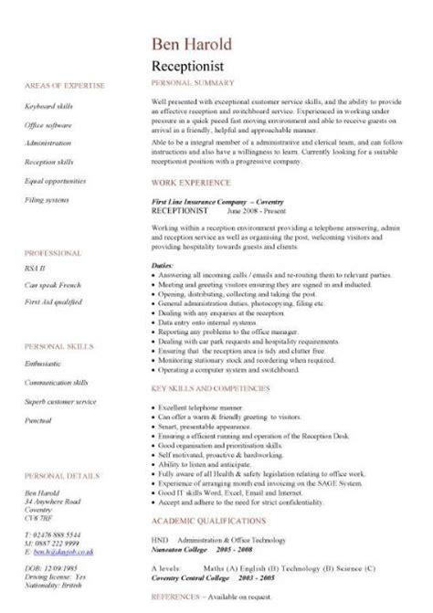 Resume Samples Receptionist – front desk receptionist resume sample   anuvrat.info