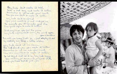 hey jude testo handwritten hey jude lyrics on sale for 375k beatles