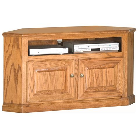 Oak Tv Cabinet With Doors Classic Oak 50 Quot Corner Tv Cabinet 1 Shelf 2 Doors Dcg Stores