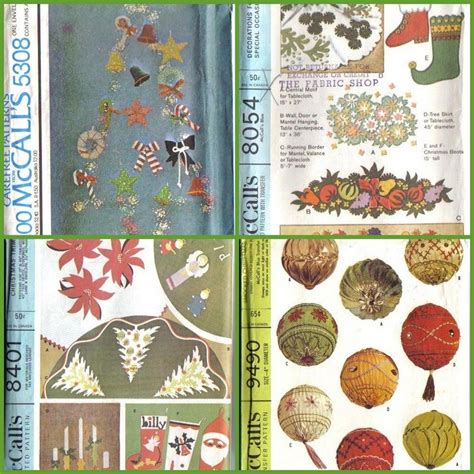 sewing patterns xmas decorations vintage mccalls sewing pattern christmas holiday mccall