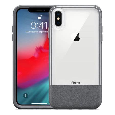 otterbox statement series iphone xs max grey clear
