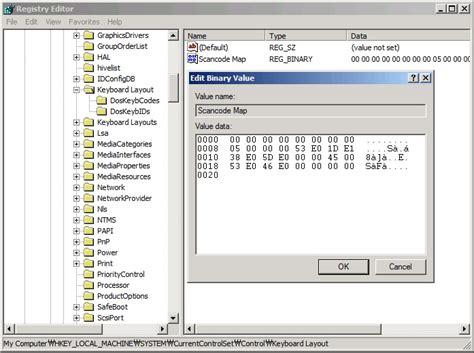 keyboard layout scancode map keyboard remap pause break key as del key hana sarah