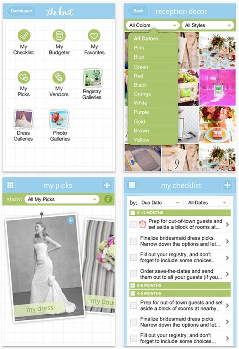Wedding Planner App by Iphone Wedding Apps Something Turquoise Daily