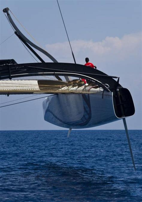 sailing boat hull bmw oracle trimaran flying a hull world of catamaran