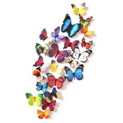 3d butterfly stickers for walls 24pcs 3d butterfly art decal wall stickers magnetic home