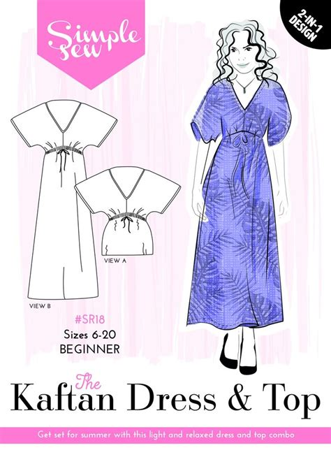 how to make a kaftan dress or top free pattern sew guide 17 best images about creation inspiration on pinterest
