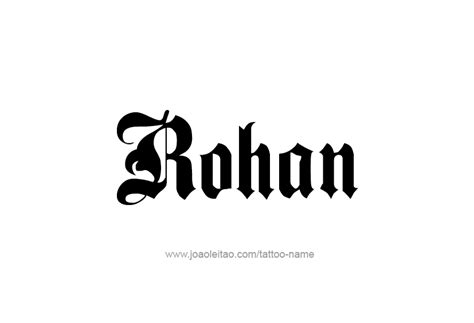 rohan name tattoo designs