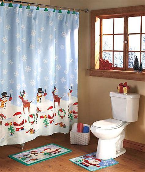 christmas bathroom set christmas bath set shower curtain 12 shower hooks
