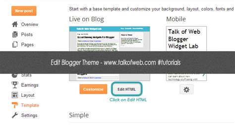 how to edit template in blogger step by step guide with