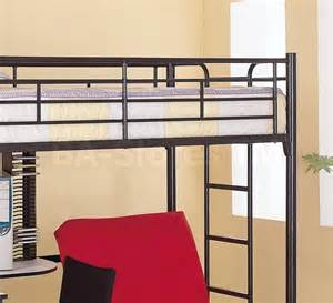 Futon Bunk Bed With Desk 660 10 Workstation Loft Bunk Bed With Futon Chair Desk Coaster Co Bunk Beds 5