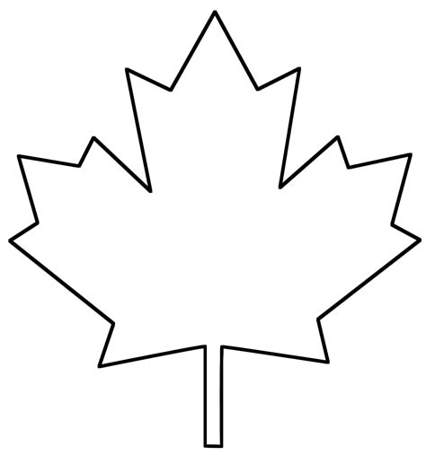 maple leaf printable template canadian maple leaf outline clipart best
