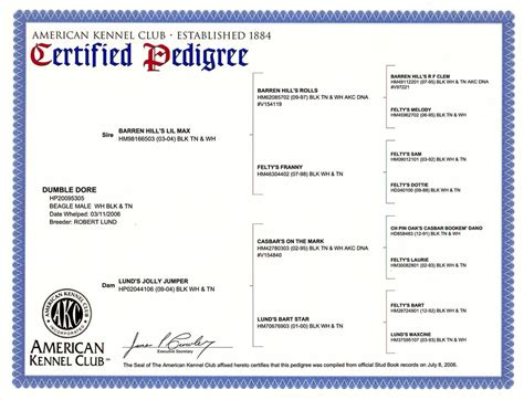 pedigree for puppies pedigree certificates breeds picture