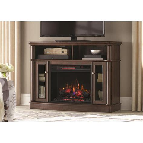 electric fireplace tv stand home depot hton bay blaise 20 in infrared quartz electric