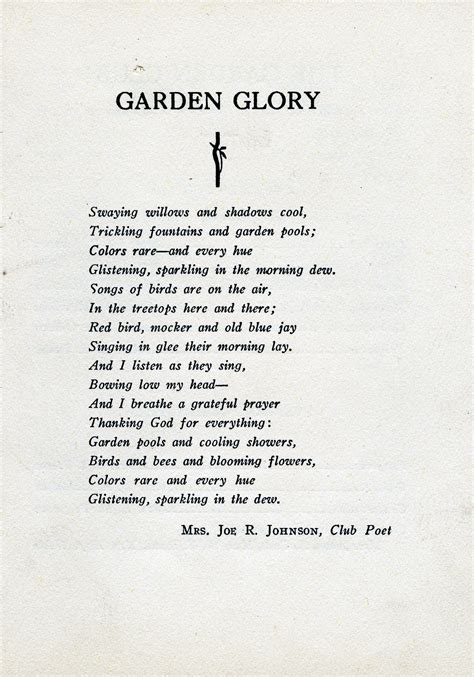 Garden Poems by Gardens Chattanooga Library