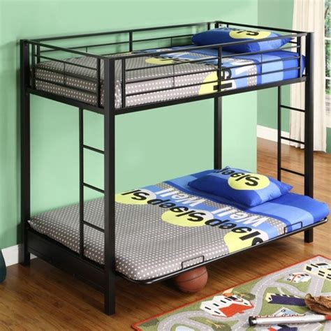 black metal size futon bunk bed frame