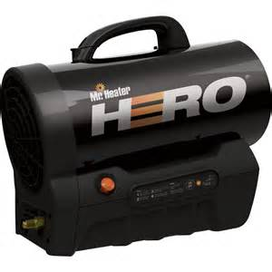 mr heater hero cordless forced air propane heater with quiet burn technology 35 000 btu