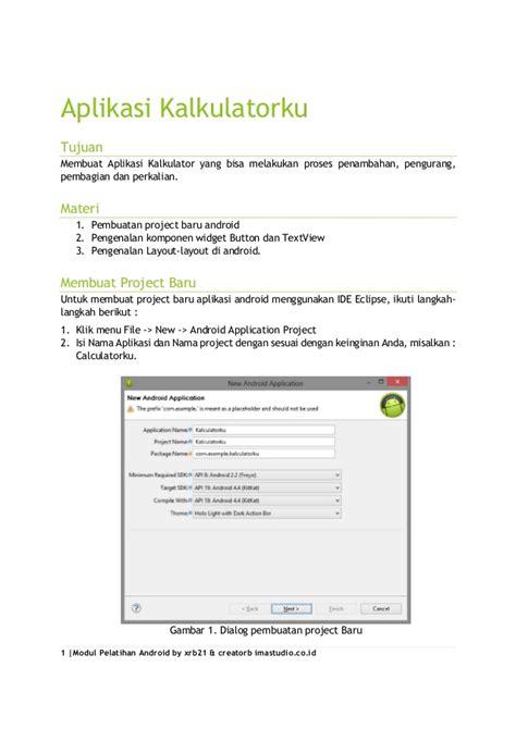 cara membuat aplikasi android sederhana sendiri tutorial lengkap cara membuat aplikasi android sederhana