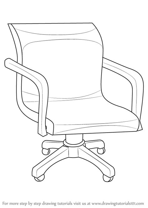 how to draw a recliner chair step by step learn how to draw an office chair furniture step by step