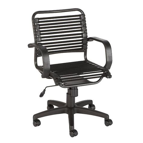 Black Bungee Office Chair by Black Flat Bungee Office Chair With Arms The Container Store