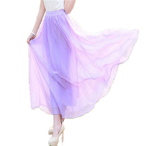 2015 womens maxi skirts plus size elastic high waist