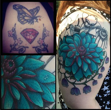 botanical cover up by chris sparks gully cat tattoo
