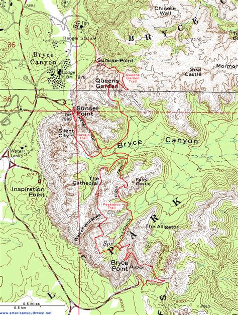 topographical map of utah topographic map of bryce utah